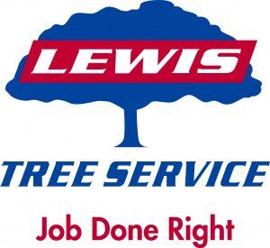 Lewis Tree Service Logo with Tagline
